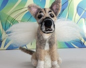 RESERVED-One custom needle felted dog from photos. Custom pet portrait, Dog memorial