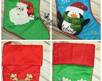 Personalized Christmas Stockings - Monogrammed Christmas Stockings- Childrens Christmas Stockings
