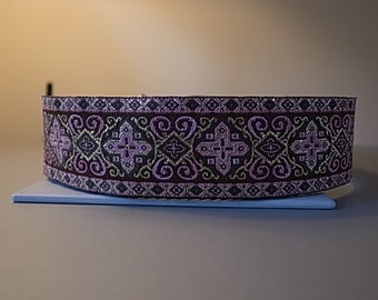 Pink Medieval House/Martingale/Side Release Buckle Collar