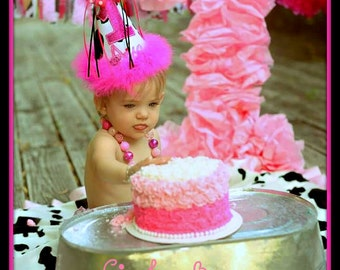 Cow Birthday Hat, Cow 1st Birthday Hat, Cowboy, Cowgirl, First Birthday Hat, Gingham Bunny