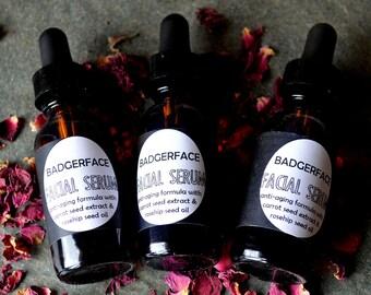 Face Oil. Face Serum. Anti Aging Serum. 1 oz / 30 mL. Facial Serum. Argan Oil. Rosehip Seed Oil. Carrot Seed Oil. Mature Skin. Oil Cleansing