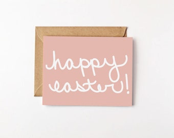 Happy Easter Eco Friendly Recycled Paper Greeting Card Spring Religious