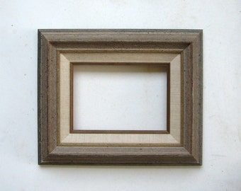Rustic Frame With Linen Liner 5 x 7 Inner For Oil or Acrylic Painting
