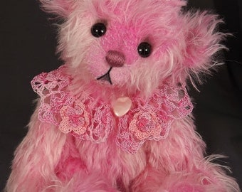 One of A Kind ArtistBear,  Collectable Mohair Artist Bear, by Valewood Bears, Artist Bear, Teddy Bear