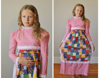 1970s Youngland Apron Dress >>> Girls Size 7/8