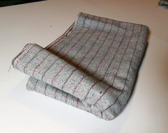 """VINTAGE Grey Wool Fabric 1 yard & 13"""" x 60""""wide."""