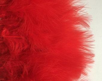 MARABOU FEATHER  Fringe / Elmo Red    /  M - 07