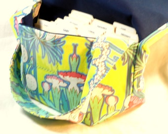 Large Coupon Organizer, Coupon Holder, Coupon Purse, Ready to Ship,Tropical Floral Fabric