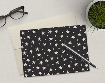 Clearance | Stationery Set | Folded Notes | Stars and Dots