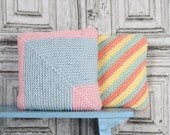 Candy Coloured Cushions knitting pattern