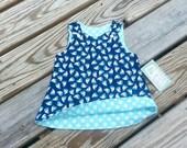 Sailboat Dress - Girls Spring Dress - Sailboats - Girls Beach Dress  - Nautical Dress - Birthday Dress - Groovy Gurlz