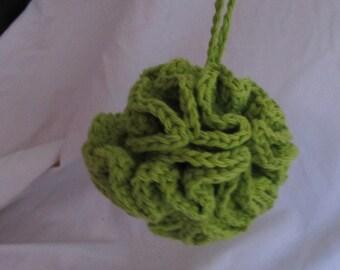 Lime Green Bath Pouf (5200)
