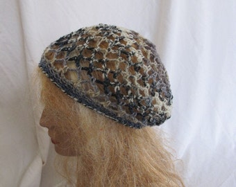 SALE - Stormy Lacey Slouchy Beret/Tam/Dreadlock Hat (5270)