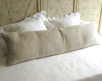 FRENCH LAUNDRY 16x54 super long  Pillow Cover in SPA Stripes