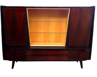 Summer Sale 1950s Monumental Cabinet Mid Century Modern Made in Germany