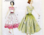 Vogue Retro Design Sewing Pattern V8789 Misses 1957 Dessin Original DRESS / Size 6 - 14 UNCUT FF