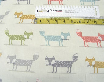 Clarke & Clarke • fox multi • Canvas Cotton Fabric 0.54yd (0,5m) 002611