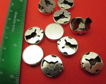 Button covers Silver plated supplies for making jewelry brass findings lot Wholesale Lots Button covers 6 pcs