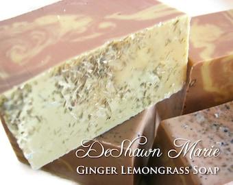 SOAP- Ginger Lemongrass Soap - Handmade Soap - Vegan Soap - Fresh Soap- Soap Gift