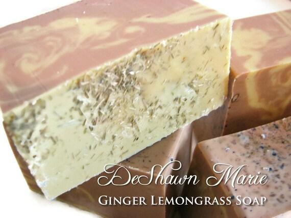SALE SOAP- Ginger Lemongrass Soap - Handmade Soap - Vegan Soap, Soap Gift, Christmas Gift, Mother's Day Gift, Birthday Gift, Wedding Favors