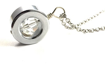 Crystal Pendant Necklace Statement Necklace Hardware Jewelry Eco Friendly