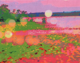 Digital print on canvas- Summer color on the Hudson River by Gretchen Kelly