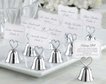 Kissing Bell Wedding Place Card Holders Photo Holders Set of 24