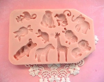 Noahs Ark Animal Silicone Ice Chocolate Candy Soap Mold Supplies