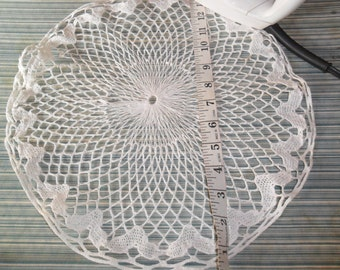 Vintage Handcrocheted White Cotton Doily
