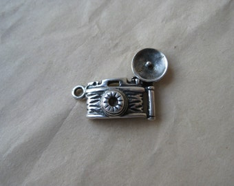 Camera Charm Sterling Silver Vintage 925
