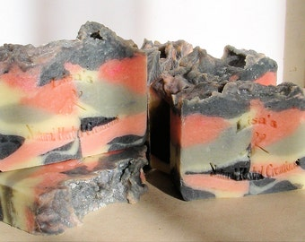 Pink Camo handcrafted artisan soap