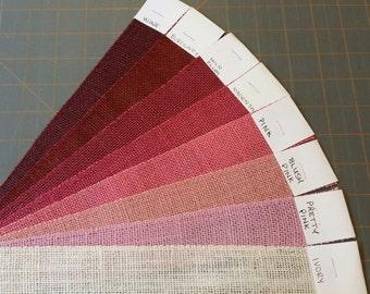 2 inch Pink Magenta or Burgundy Burlap Ribbon - 3 yards