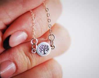 Tree of Life Necklace - Solid 925 Sterling Silver Charm - Insurance Included