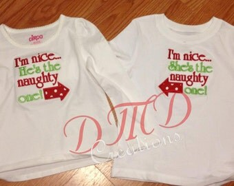 Naughty or Nice Applique Shirt