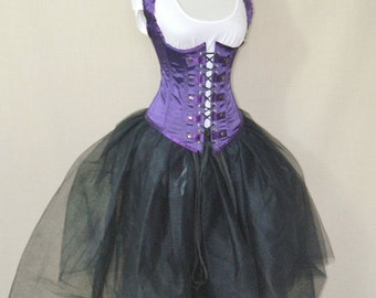 """Clearance Military Steampunk Royal Purple Corset-to fit 23-25"""" natural waist"""