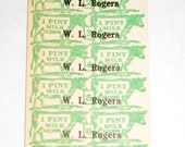 Vintage Milk Tickets for Altered Art, Collage, Scrapbooking, etc.