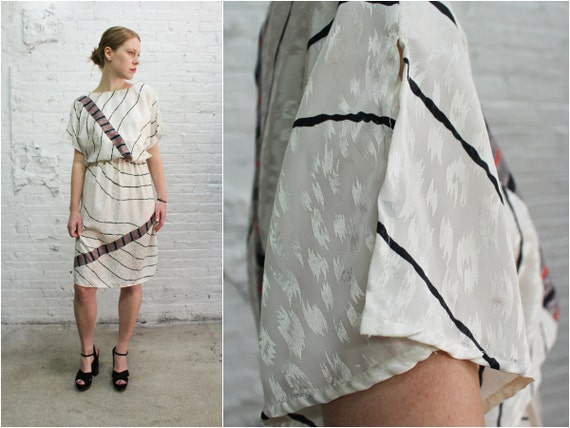 80 s minimalist dress vintage post modern abstract print