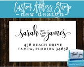 Custom Address Stamp, Personalized Self Inking Wedding Stationery Stamper - Style 174