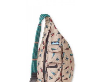 Monogrammed Kavu Rope Bags - Top Water - Great gift for College, Teens, Women, Outdoors Satchel Crossbody Tote