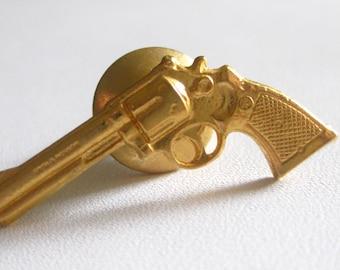 S&W Smith Wesson Tie Tack Lapel Pin Gun Pistol Free Shipping Vintage