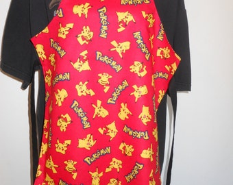 Double Layer apron_Pokemon_ Fantastic four_Kids Apron_youth_Kids Arts and Crafts