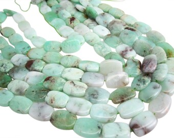 Chrysoprase Beads, Chrysoprase, Oval Shape, 15mm x 21mm, SKU 3956A