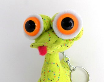 Cute Keychain, Easter Basket Toy, Easter Basket Stuffer, Alien Keychain by Adopt an Alien named Gogo