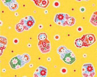 209154 yellow Lecien oxford fabric colorful Matryoshka
