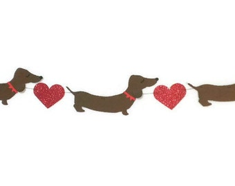 Dachshund Decor, Doxies, Wiener Dog Garland, Sausage Dog