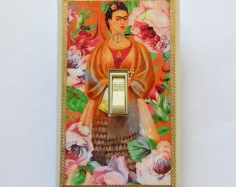 MATCHING SCREWS- 5 CHOICES of Frida Switchplates Frida Kahlo art prints Frida light switch covers Frida art shrine Frida wall switch plates