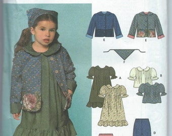 Simplicity 9417 Girls' Dress or Top, Skirt, Pants, Jacket and Scarf - Size 3-4-5-6-7-8 - Uncut Pattern
