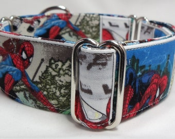 Jumping Spiderman Greyhound, Whippet, Galgo, Pit Bull, Dog Sighthound Martingale Collar