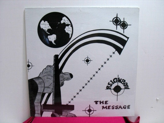Reignbow The Message Vinyl LP Record Still Sealed, Vintage Album, Rainbow Xian Folk Femme Christian Private Label