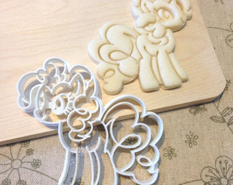 My Little Pony Pinkie Pie Cookie Cutter - MLP Fondant Icing Cake Cupcake Topper Iced Sugar Cookies Biscuits Mould Pink Girls Birthday Party
